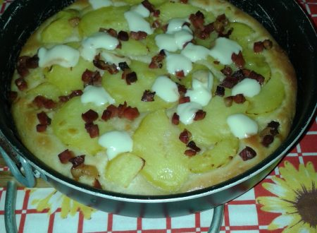 Pizza patate e speck